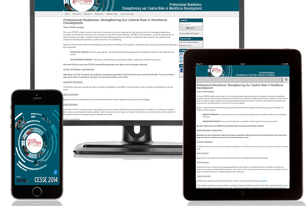 The Newest Must-Have for Online Conference Materials: Responsive Design