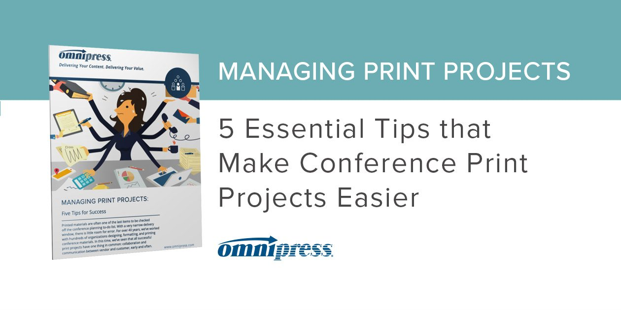 Manage Conference Print Projects