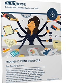 Managing Print Projects