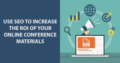 seo search engine optimization increase roi online conference materials